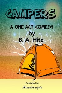 Play Script Campers One Act Comedy Cover Image