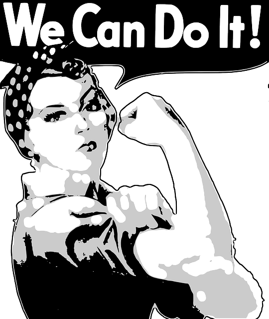 strong woman we can do it